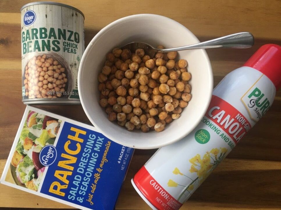 ranch chickpeas for kids